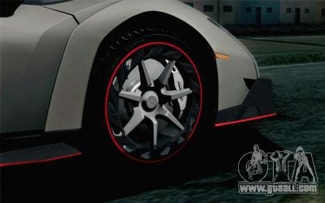 NFS Rivals Lamborghini Veneno for GTA San Andreas back left view