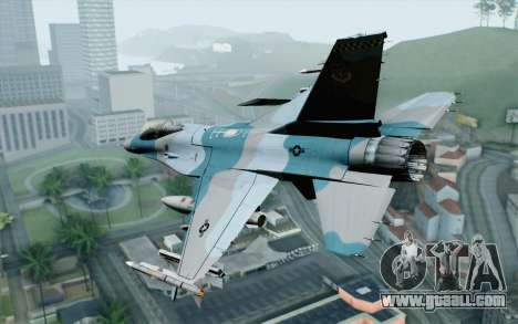 F-16C Fighting Falcon Aggressor BlueGrey for GTA San Andreas left view