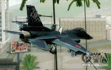 F-2A Viper 60th Anniversary of JASDF for GTA San Andreas left view