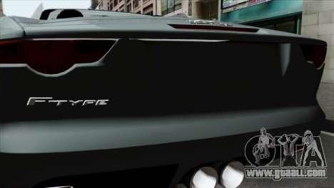 Jaguar F-Type for GTA San Andreas back view