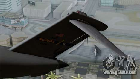 C-17A Globemaster III USAF McGuire for GTA San Andreas back left view