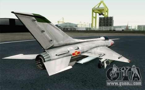 MIG-21 Fishbed C Vietnam Air Force for GTA San Andreas left view