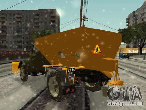 GAS 51 snowblower for GTA San Andreas back left view