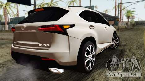 Lexus NX 200T for GTA San Andreas left view
