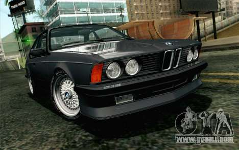 BMW M635CSI E24 1986 V1.0 EU Plate for GTA San Andreas