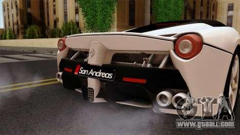 Ferrari LaFerrari 2015 for GTA San Andreas back view
