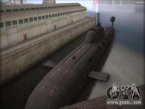 NPS project 941 Akula for GTA San Andreas second screenshot