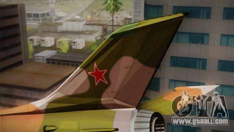 MIG 21 Russian Camo Force for GTA San Andreas back left view