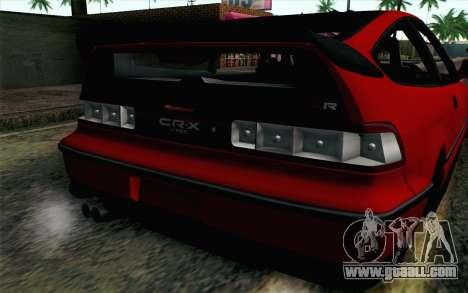 Honda CRX for GTA San Andreas back view