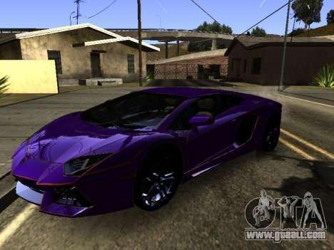 Lamborghini Aventador Tron for GTA San Andreas side view