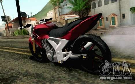 Honda Twister 250 v2 for GTA San Andreas left view