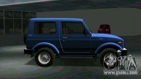 Suzuki Samurai for GTA San Andreas left view
