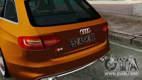 Audi S4 Avant 2013 for GTA San Andreas right view