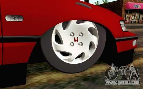 Honda CRX for GTA San Andreas back left view