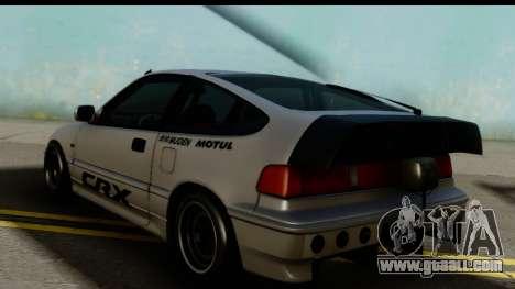 Honda CRX Dragster for GTA San Andreas left view