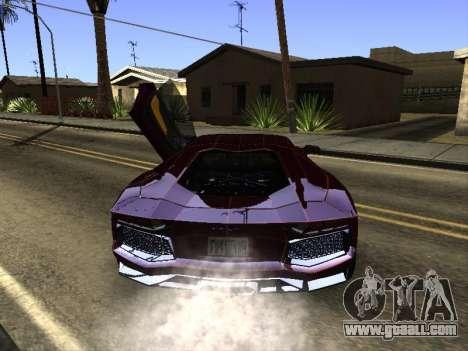 Lamborghini Aventador Tron for GTA San Andreas right view