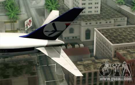 Boeing 767-300 PLL LOT for GTA San Andreas back left view