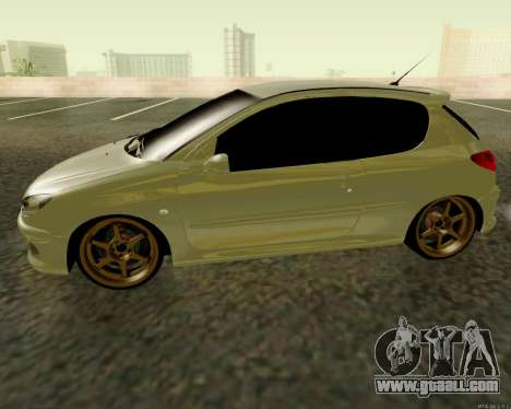 Peugeot 206 Street Racer Tuning for GTA San Andreas left view