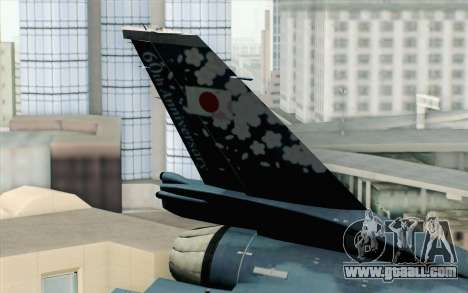 F-2A Viper 60th Anniversary of JASDF for GTA San Andreas back left view