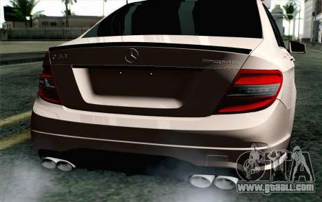 Mercedes-Benz C63 AMG for GTA San Andreas back view