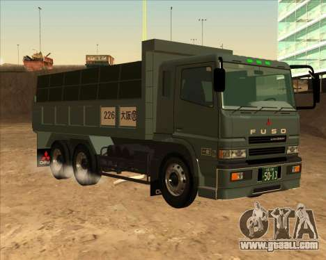Mitsubishi Fuso Super Great Dump Truck for GTA San Andreas