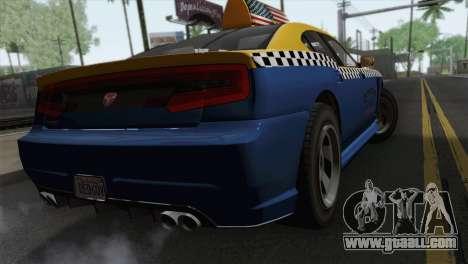 GTA 5 Bravado Buffalo S Downtown Cab Co. for GTA San Andreas left view