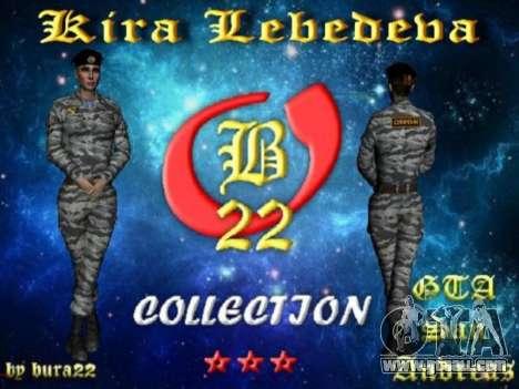 Kira Lebedev for GTA San Andreas seventh screenshot