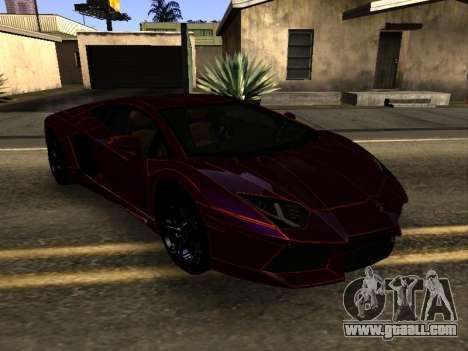 Lamborghini Aventador Tron for GTA San Andreas back view
