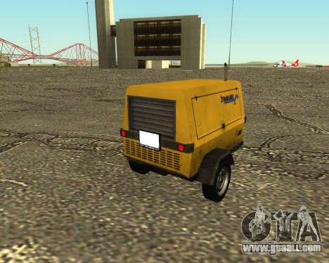 Multi Utility Trailer 3 in 1 for GTA San Andreas left view
