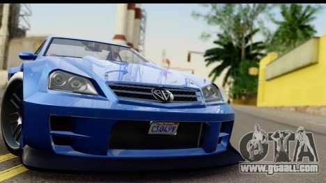 GTA 5 Benefactor Feltzer IVF for GTA San Andreas back left view