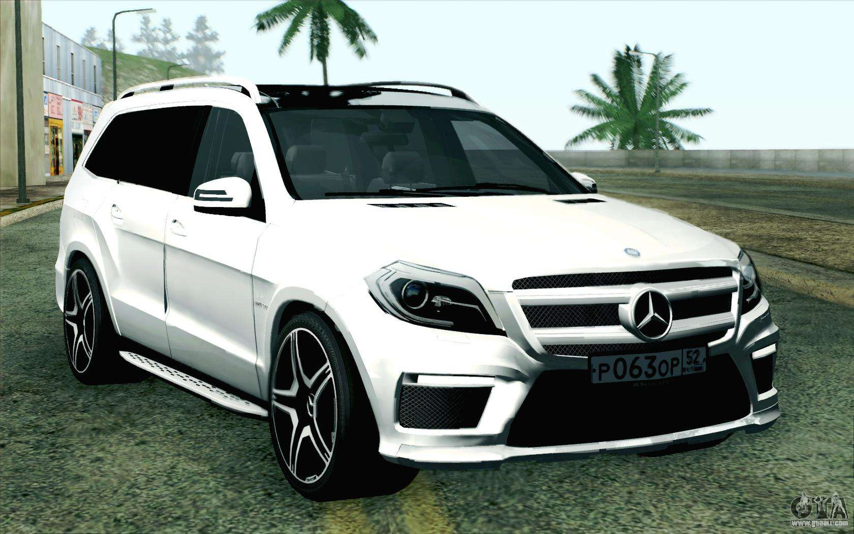 mercedes benz gl63 amg 2014 for gta san andreas. Black Bedroom Furniture Sets. Home Design Ideas
