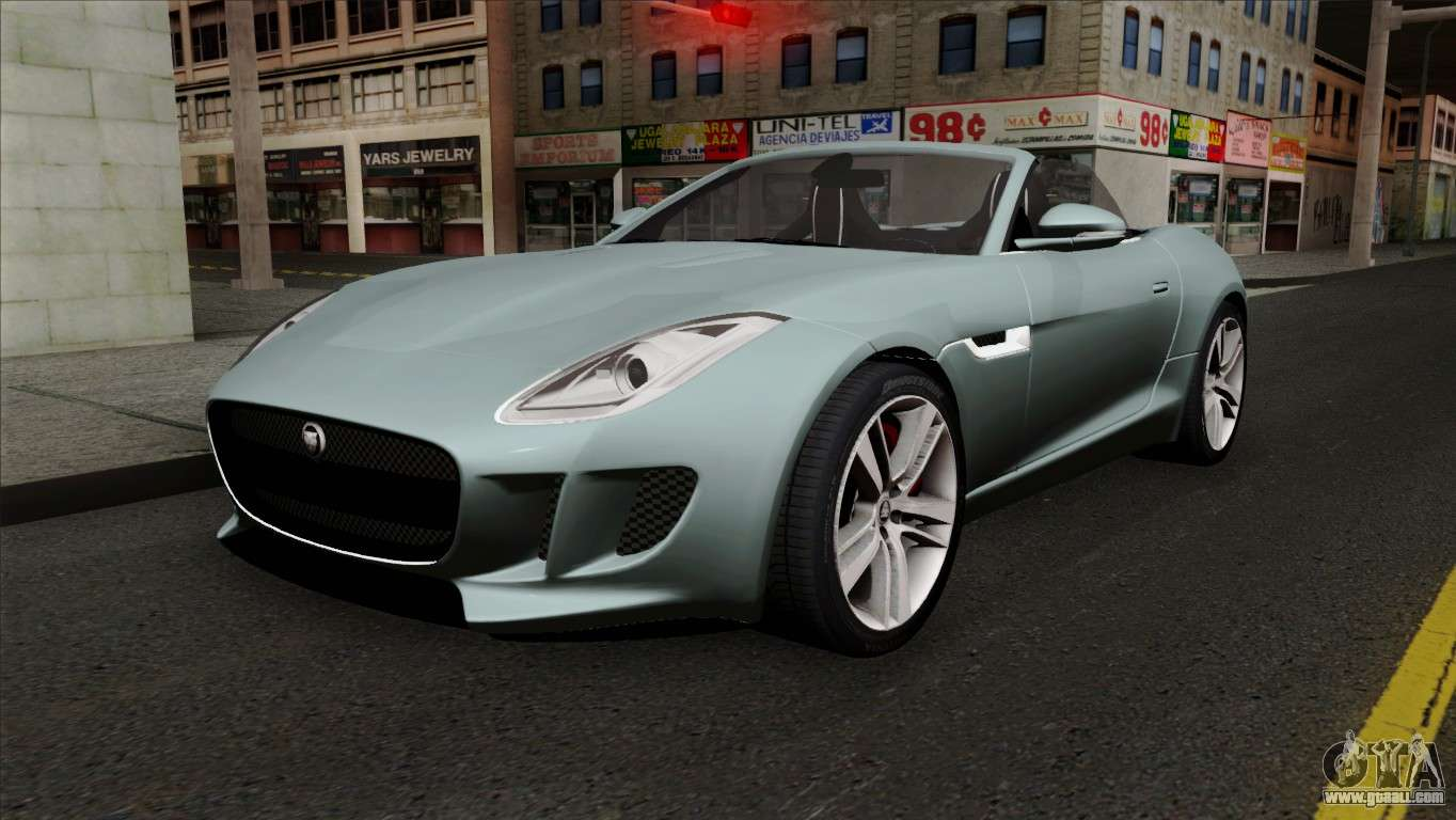 jaguar f type for gta san andreas. Black Bedroom Furniture Sets. Home Design Ideas