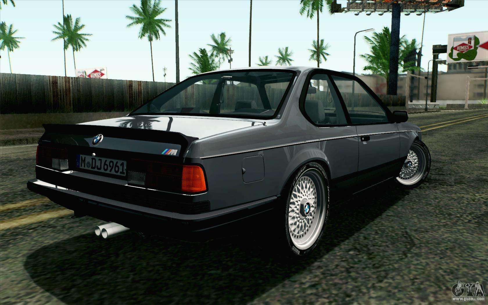 Bmw M635csi E24 1986 V1 0 Eu Plate For Gta San Andreas