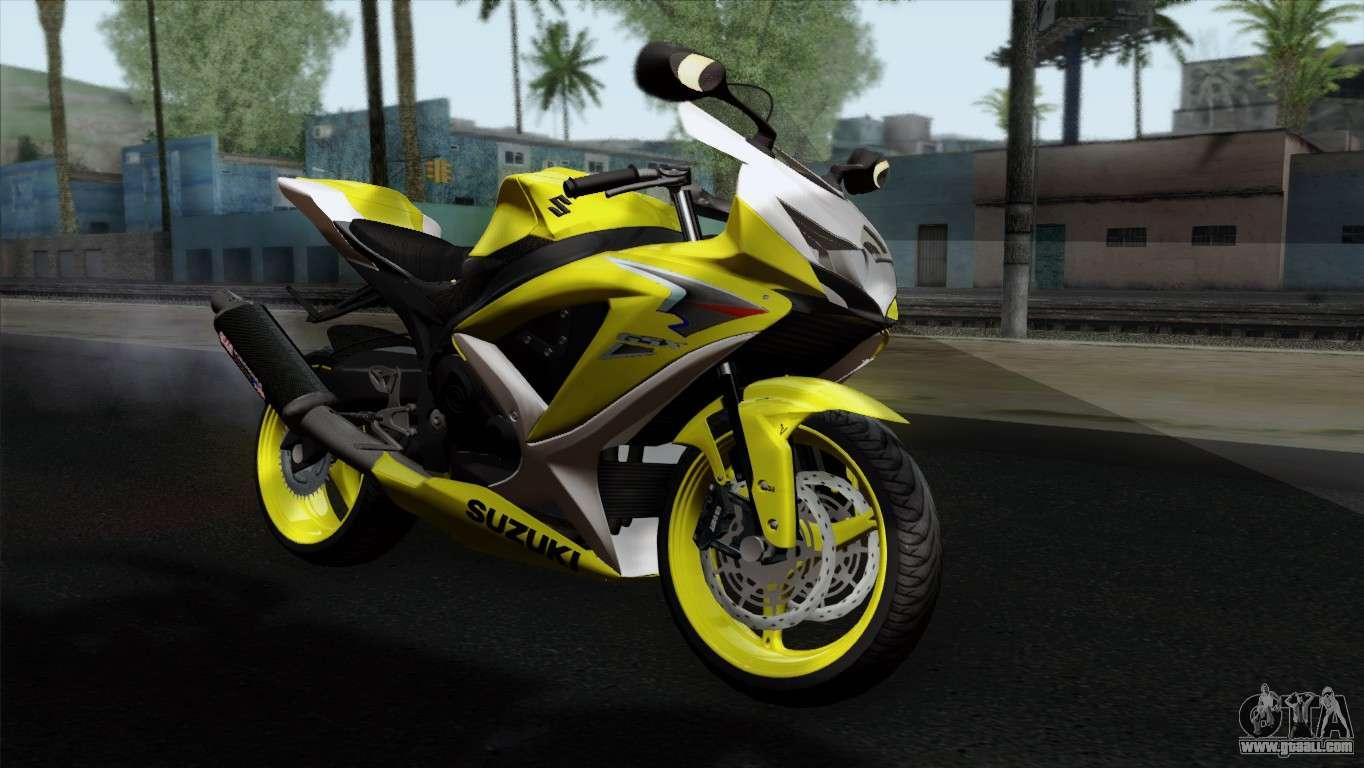 Suzuki GSX-R 2015 Yellow & White for GTA San Andreas
