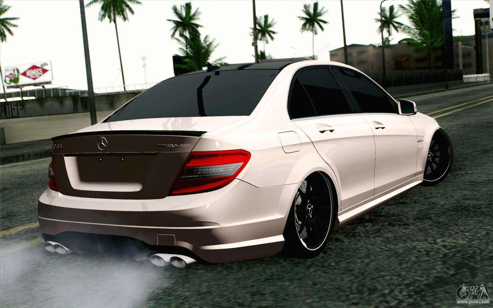 mercedes benz c63 amg for gta san andreas. Black Bedroom Furniture Sets. Home Design Ideas