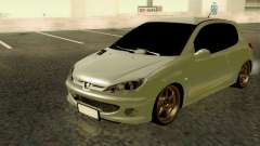 Peugeot 206 Street Racer Tuning for GTA San Andreas