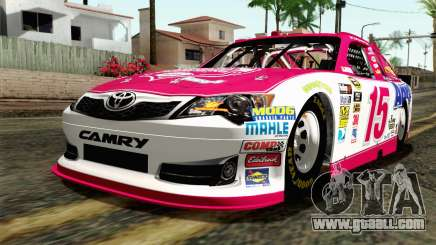NASCAR Toyota Camry 2012 Plate Track for GTA San Andreas