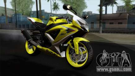 Suzuki GSX-R 2015 Yellow & White for GTA San Andreas