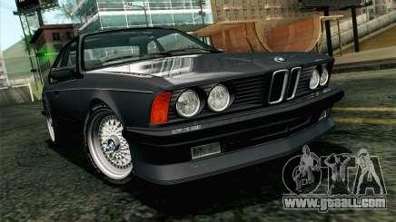 BMW M635CSI E24 1986 V1.0 EU Plate for GTA San Andreas