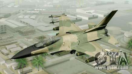 F-16 Fighter-Bomber Green-Brown Camo for GTA San Andreas