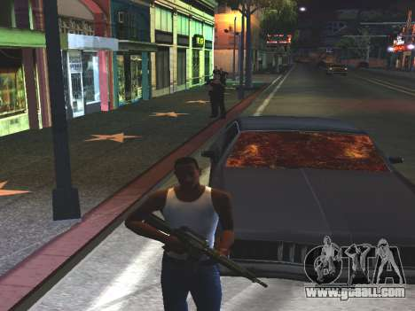 Blood on the Windows of the car for GTA San Andreas