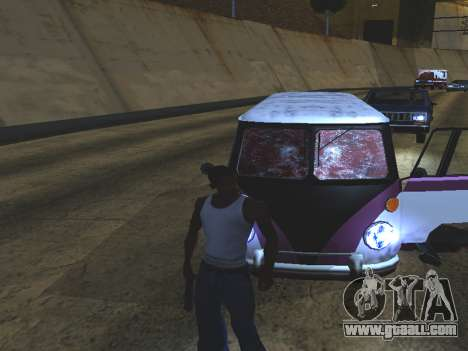 Blood on the Windows of the car for GTA San Andreas third screenshot