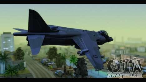 AV-8B Harrier Estovakian Air Force for GTA San Andreas left view