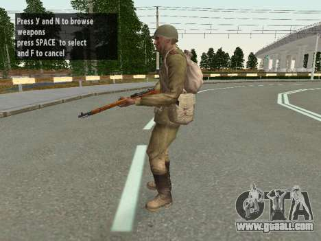 Soldiers of the red army in the helmet for GTA San Andreas eighth screenshot