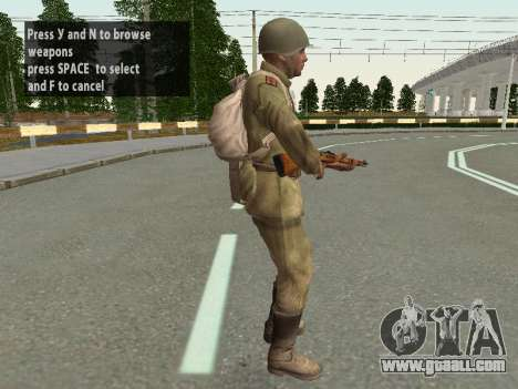 Soldiers of the red army in the helmet for GTA San Andreas seventh screenshot