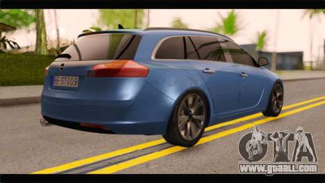 Opel Insignia Wagon for GTA San Andreas left view