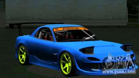 Mazda RX-7 FD3S Vertex for GTA San Andreas left view