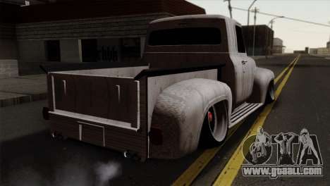 Ford F-100 1956 Stay Low for GTA San Andreas left view
