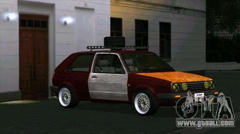 Volkswagen Golf II Rat Style for GTA San Andreas left view