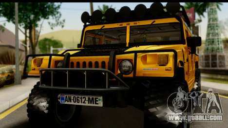 Hummer H1 6-Wheel for GTA San Andreas back left view